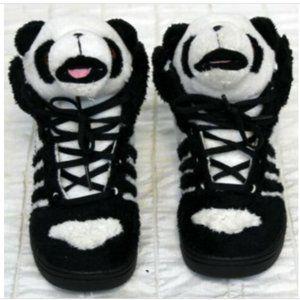 HTF 2011 Jeremy Scott x Adidas Panda Head High Top